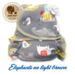 Elephants on light Brown